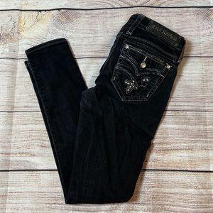 Rock Revival Iselin Black Skinny Jeans NWOT
